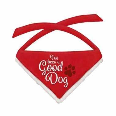 Kerst halsband zakdoek/sjaaltjes kleine hondjes good dog