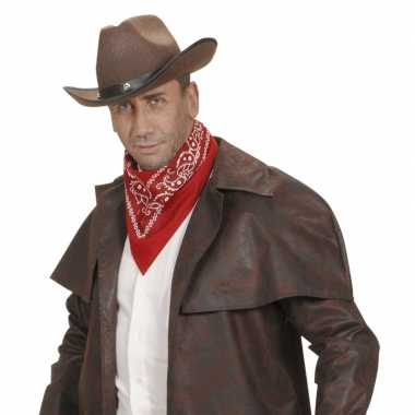 Rode cowboy zakdoek