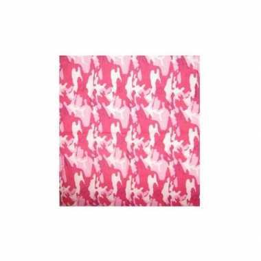 Roze zakdoek camouflage