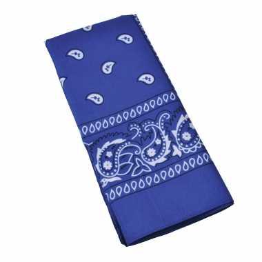 X blauwe boeren zakdoeken