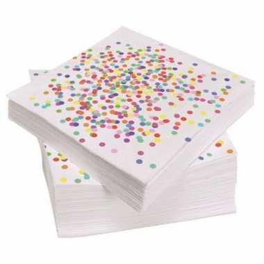 X confetti thema feest zakdoeken papier