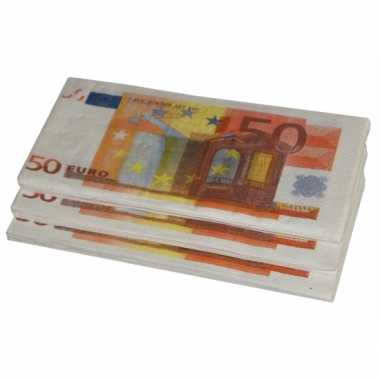 X euro geld thema zakdoeken .