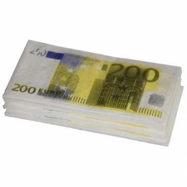 X euro zakdoeken geld thema zakdoeken