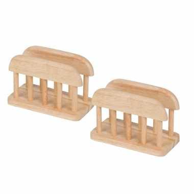 X houten zakdoeken houders/standaard