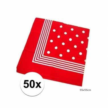 X rode boeren zakdoeken stippen