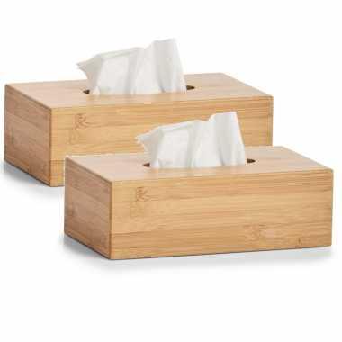 X tissuedozen/tissueboxen bamboe hout , zakdoek