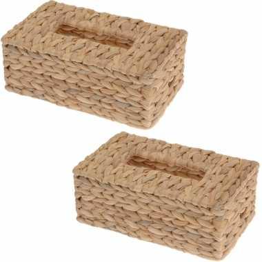 X tissuedozen/tissueboxen riet zakdoek