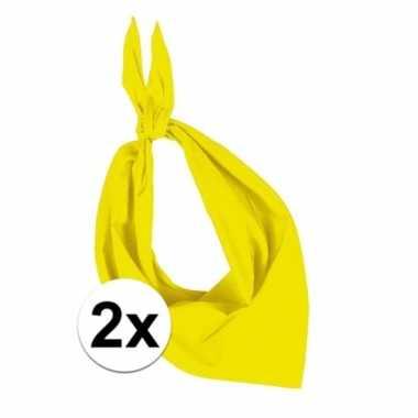 X zakdoek geel