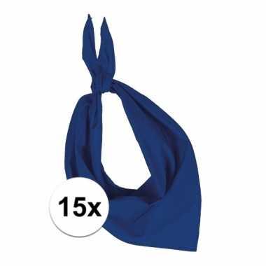 X zakdoek kobalt blauw