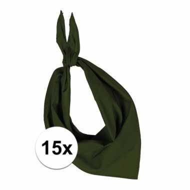 X zakdoek olijf groen