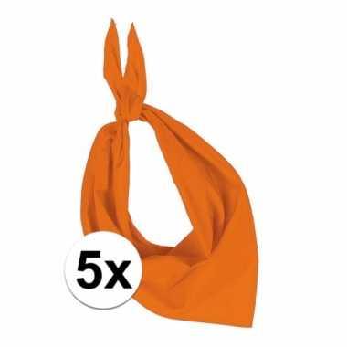 X zakdoek oranje