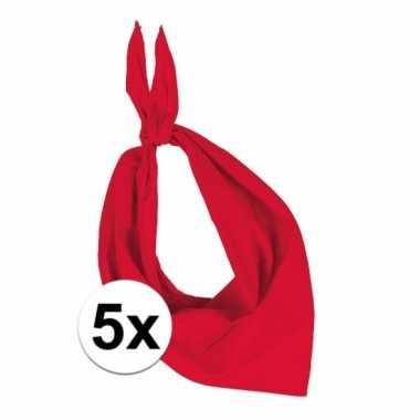 X zakdoek rood