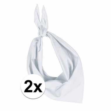 X zakdoeken zakdoek wit