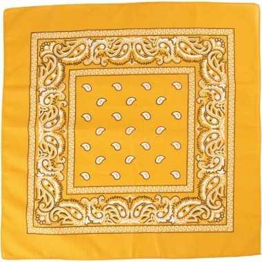 Zakdoek geel x
