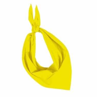 Zakdoek geel