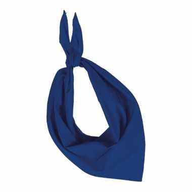 Zakdoek kobalt blauw
