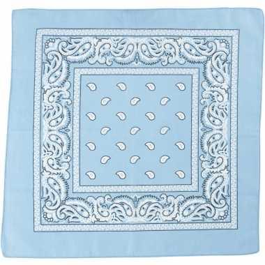 Zakdoek lichtblauw x