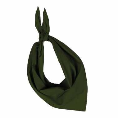 Zakdoek olijf groen