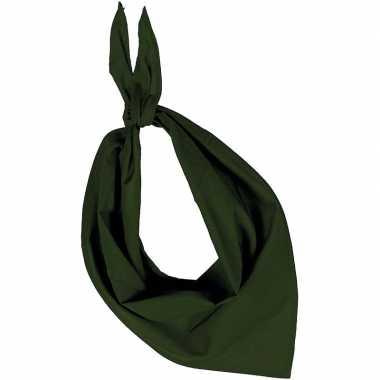 Zakdoek/zakdoek olijfgroen volwassenen