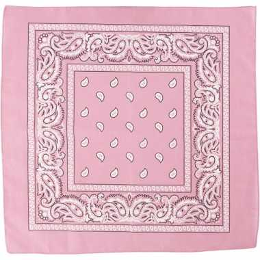 Zakdoek roze x