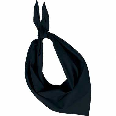 Zakdoek/zakdoek zwart volwassenen