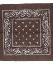 Bruine boeren zakdoek