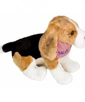 Honden knuffel beagle zakdoek