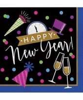 Oud nieuw zakdoeken zwart blauw happy new year