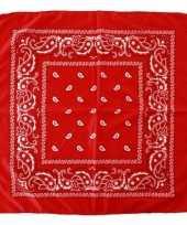 Rode boeren zakdoek 10131070