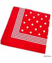 Rode boeren zakdoek stippen