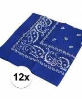 X blauwe boeren zakdoeken 10126073
