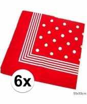 X rode boeren zakdoek stippen