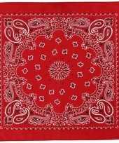 Zakdoek rood x